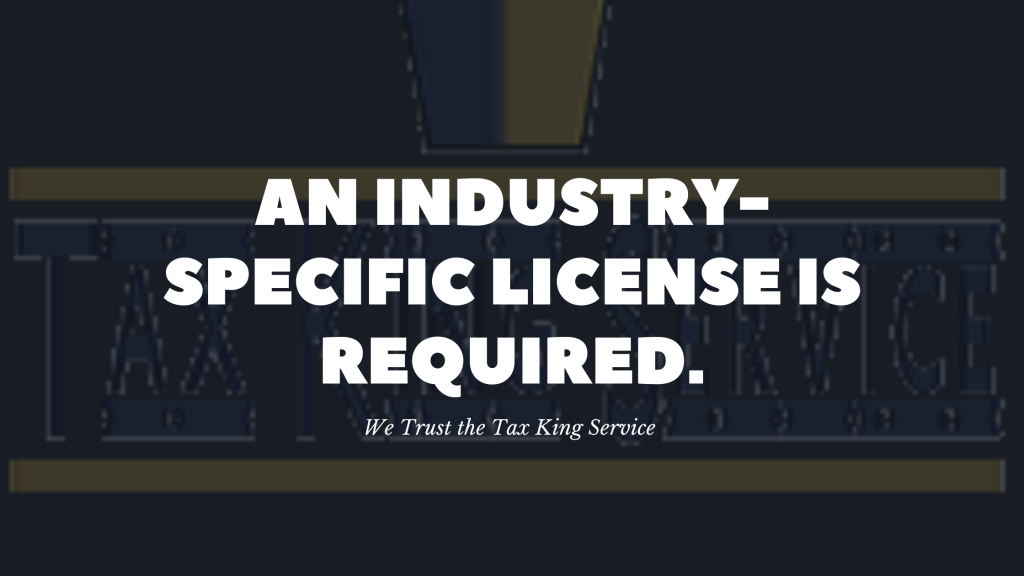 an industry specific license is required blog